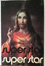 Original Vintage Poster Jesus Christ Superstar 1971 Musical Theatre Promo 70s