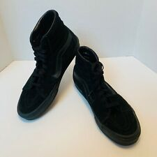 New listing Men's Vans Size 10 SK8-Hi Off The Wall Black on Black Suede High Top Skate Shoes