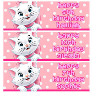 MARIE ARISTOCATS Personalised Birthday Banner - Disney Birthday Party Banner