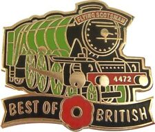 BEST OF BRITISH POPPY LNER FLYING SCOTSMAN LOCOMOTIVE RAILWAY TRAIN PIN BADGE