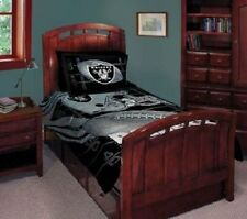 Licensed NFL Football Oakland Raiders Comforter Set Queen 5 Piece Bed Bedding
