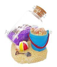 Seau de plage avec bouteille de sable, décoration marine, style marin neuf