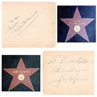 Olivia De Havilland / Gary Cooper Dual Signed Album Page Cut JSA COA Autograph