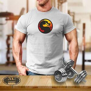 Dragon Gym T Shirt Gym Clothing Bodybuilding Training Workout Exercise Men Top