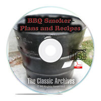 How To Build A Meat Smoker Smokehouse Plans, Smoking Meat Guides Recipes CD B72