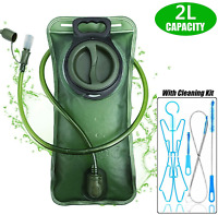 2L Water Bladder Backpack Hydration System Bag Camping Hiking w/ Cleaning Kits