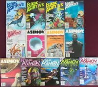 Isaac Asimov's Science Fiction Digest Magazines (13) 1979-1989 Vintage SF