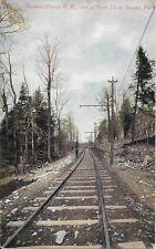 Northern Electric R R View of North Clarks Summit PA vintage postcard unused
