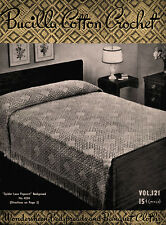 Bucilla #121 c.1938 - Bedspreads & Table Cloths Vintage Patterns for Home Decor