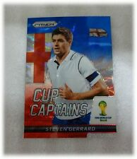 2014 Panini Prizm World Cup Blue Red Wave Captains Steven Gerrard England #27