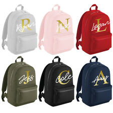 Personalised Mini Large Backpack Girls Boys Gold Kids School Bag Rucksack #MBP6