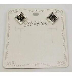 NEW Brighton CRYSTAL ROCKS Post Earrings Metallic Crystals Silver Earrings NWT
