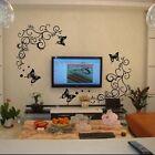 DIY Wall Stickers 3D Butterfly Flower DIY Vinyl Decal Art Mural Home Decor