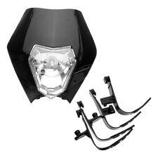 Black Front Headlight Lamp For Honda Yamaha Supermoto KTM Enduro Streetfighter