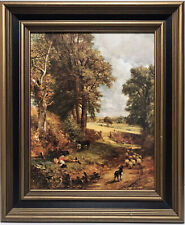 VTG Windsor Art Products The Cornfield Print on Board Framed Country 1960-1980