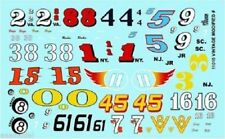 Gofer Racing 1/24-1/25 Vintage Modified Car Numbers decals 11015 x