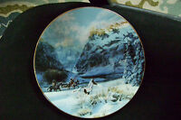 "Vintage W.L. George Porcelain ""Running With The Wind"" 1993 Julie K Cole 8' Plate"