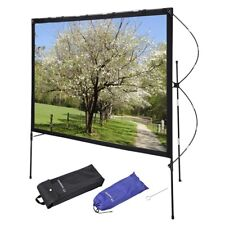 """Instahibit® 77"""" 16:9 Portable Projector Screen Foldable Frame Stand Outdoor Home"""