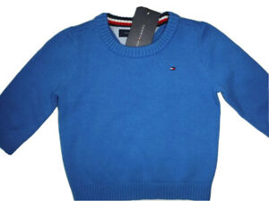 TOMMY HILFIGER BABY BOY  SWEATER PULLOVER BLUE  SIZE 18 MONTHS