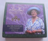 2000 Royal Mint Silver Proof Piedfort Crown Queen Mother Centenary Cased WithCOA