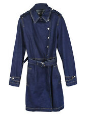 Mulberry Stretch Denim Trench Coat