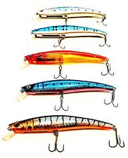 USA 5 Fishing Lures Hard Minnow Crankbait Hard  Swimbait BASS