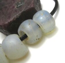 "9 RARE GORGEOUS OLD OPALESCENT VENETIAN ""BABY MOON"" ANTIQUE BEADS"