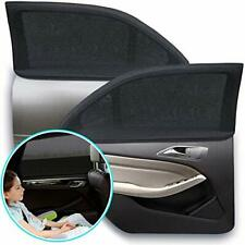 Car Window Shade, Elasticized Breathable Universal Mesh Shades for 2 Pack