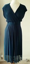 MONSOON TEAL MARIE PLEATED DRESS SIZE 22