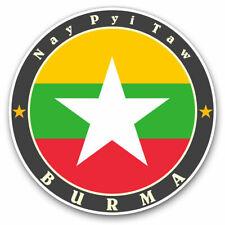 2 x Vinyl Stickers 30cm - Burma Nay Pyi Taw Burmese Flag  Cool Gift #5635