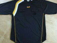 INARIA Soccer Futball Referee Jersey shirt short sleeve black w/ yellow/white AM