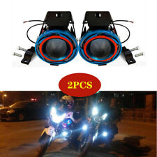 Motorcycle Scooter External Spotlight Halo Projector Lens Colorful LED Headlight