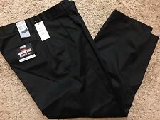 NWT Men Dockers Signature Khaki D4 Relaxed Fit Pleated Pants Black 30X32 $58