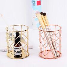 Makeup Storage Box Cylindrical Case Lipstick Brush Pen Holder Organizer Iron
