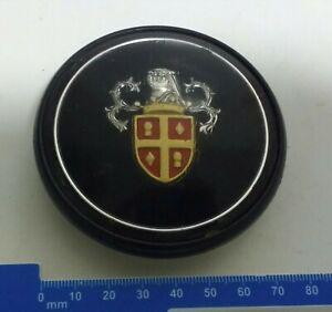 Vintage Petrol Cap Coat of Arms Perspex or Plastic over Galvanised Iron