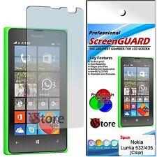 3 Pellicole Per NOKIA Lumia 532 Lumia 435  Proteggi Salva Schermo Display LCD