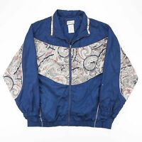 Vintage ACTIVE CLUB  Blue 90s Nylon Casual Track Jacket Womens XL