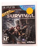 Cabela's Survival: Shadows of Katmai Sony PS3 Playstation 3, 2011 NEW Game only