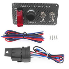 Ignition Switch Panel Push Button Battery Isolator Start Toggle For Racing Car
