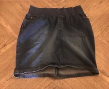 Liz Lange Dark Wash Maternity Stretch Skirt Size 8