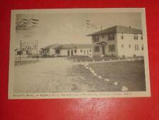 ZS529 Vintage 1953 Postcard Houser's Motel Near Woodstock Ontario Canada