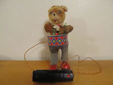 Drumming Bear Battery Operated Tin Toy  WORKING - Great Shape