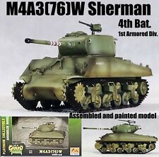WWII US M4A3(76)w Sherman 4TH TANK BAT 1st Armored div 1/72 finished Easy model