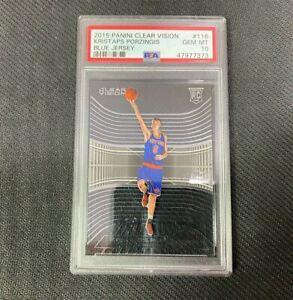 Kristaps Porzingis PSA 10 KP NBA Rookie Card Clear Vision - Low Pop Mavs Knicks