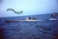 WWII Type IX U-Boat U-805 Submarine Surrenders Atlantic 1945 1 35mm COLOR SLIDE