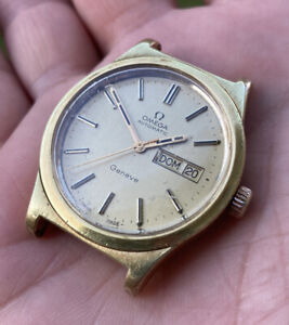OMEGA  GENEVE (GOLD PLATED) NO WORKING/NEED SERVICE/SOLD AS IS/PARTS OR REPAIR