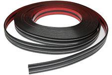 Zierleiste 44mm breit   schwarz chrom   flexibel selbstklebend   Meterware