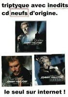 JOHNNY HALLYDAY ♦ EDITION LIMITÉE, INEDITS ♦ 3 x CD NEUFS - FLASHBACK TOUR