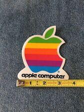 VINTAGE MAC APPLE COMPUTER RAINBOW LOGO DECAL STICKERS 1980s 1990s