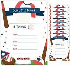 Baseball Style 2 Birthday Invitations Cards With Envelopes (10ct)